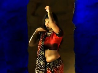 Sensuous Movements From Exotic India While Dancing